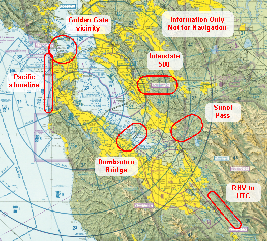 The Air Affair Flying In The San Francisco Bay Area - Class g airspace map