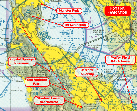 The Air Affair Flying In The San Francisco Bay Area - San andreas fault map bay area